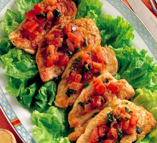 petto di pollo con zenzero e basilico