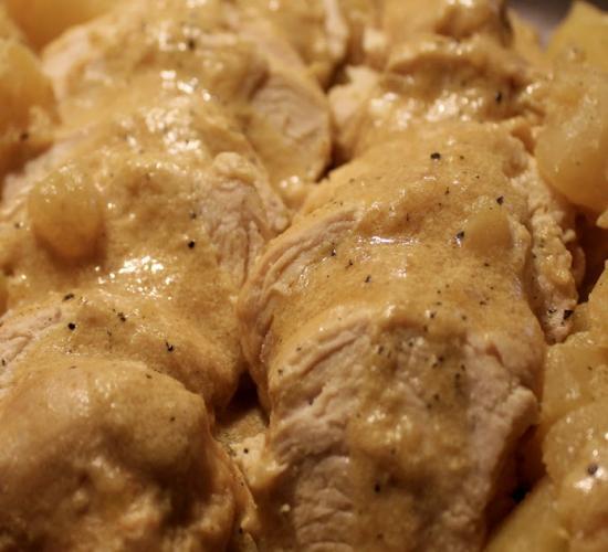 petto di pollo e patate latte e curcuma