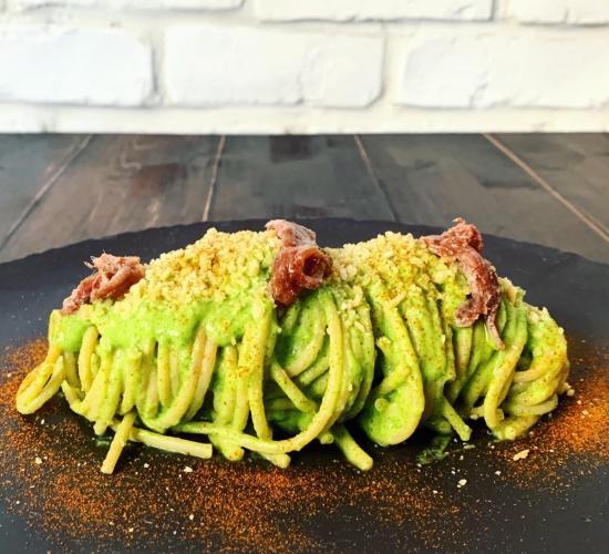 Spaghetti zucchine e alici