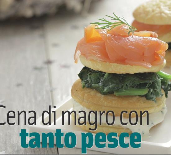timballo di salmone affumicato con spinaci e ricotta