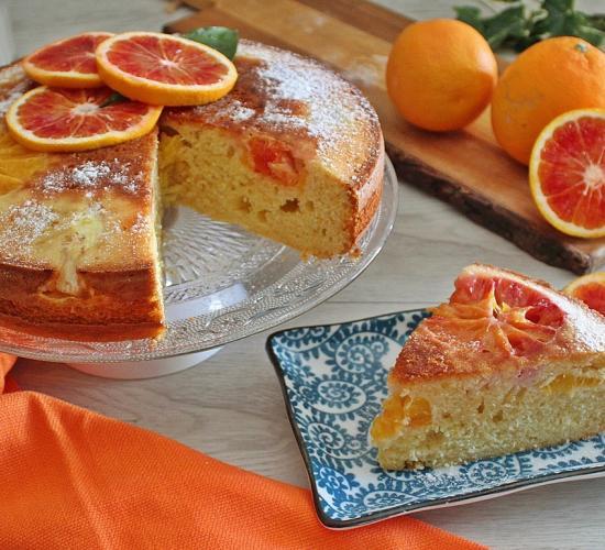 Torta d'arance sottosopra