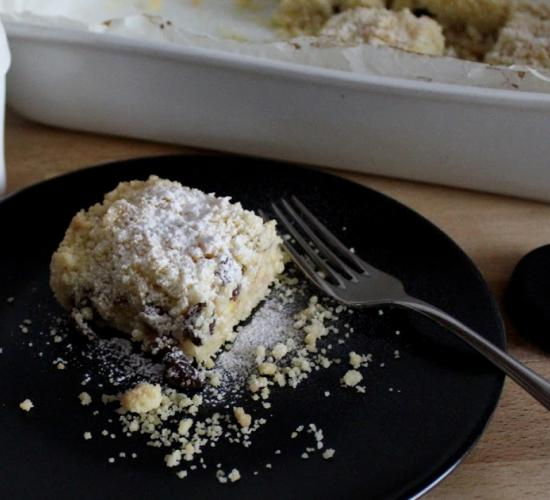 Torta sbriciola con mele e pere