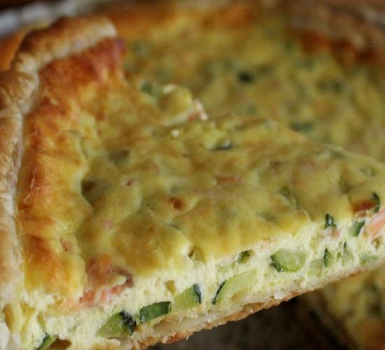 Torta sfoglia con salmone e zucchine - repost