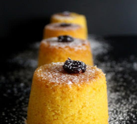 Tortini di zucca e mirtilli rossi