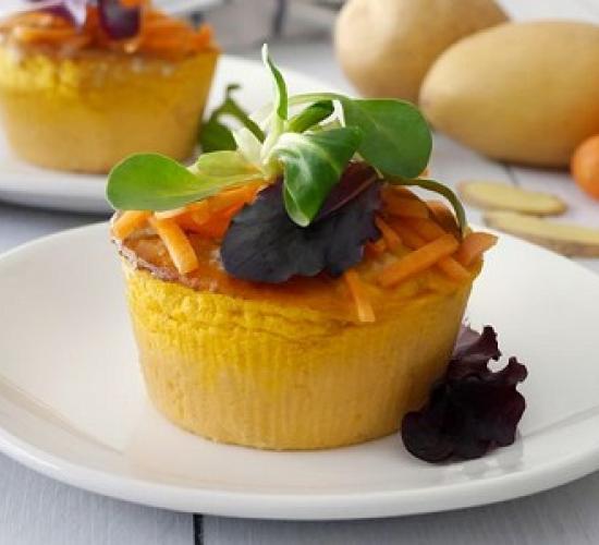 tortino di patate carote e zenzero (bimby)