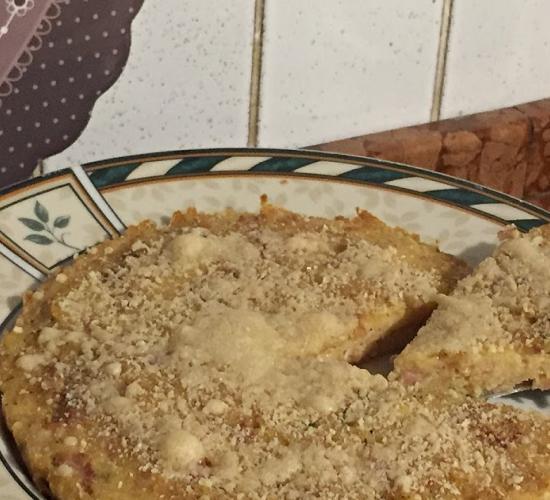 Tortino salato di pane raffermo, in padella o al forno
